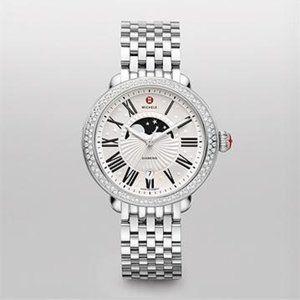 Michele Serein Diamond Moon Phase Watch
